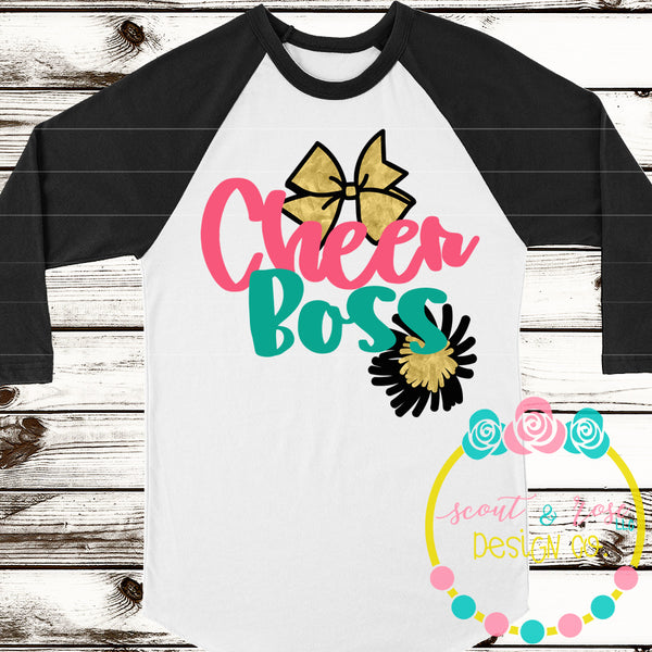 Cheer Boss Cheerleading SVG DXF PNG