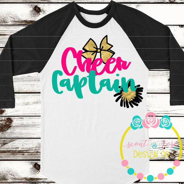 Cheer Captain Cheerleading SVG DXF PNG