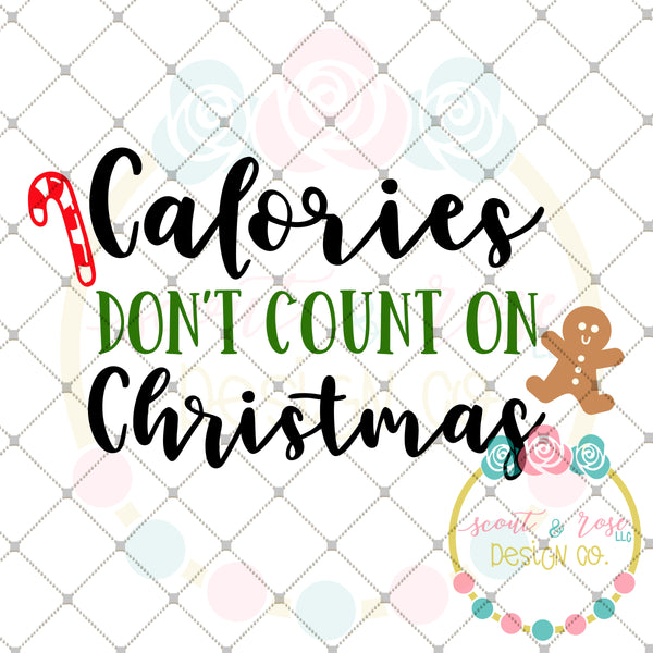 Christmas Calories SVG DXF PNG