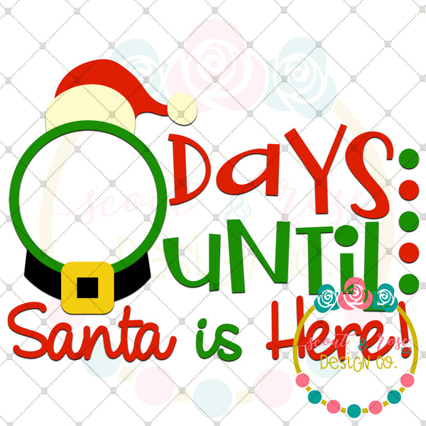 Christmas Countdown 3 SVG DXF PNG