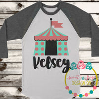 Dotted Circus Tent SVG DXF PNG