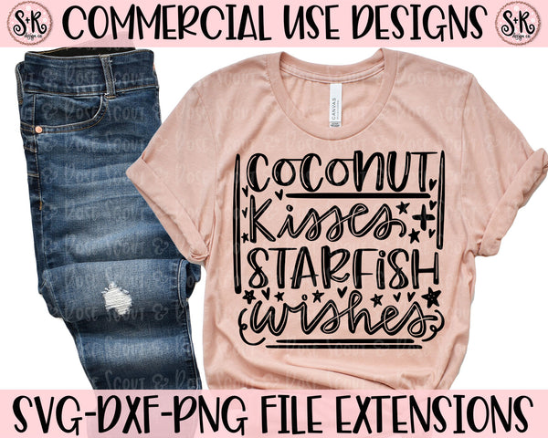 Coconut Kisses & Starfish Wishes SVG DXF PNG (2020)