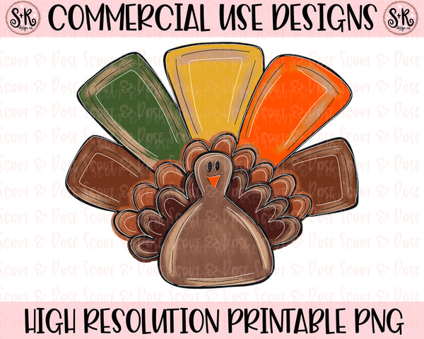 Colorful Turkey Printable Design (2020)
