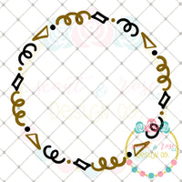 Confetti Frame SVG DXF PNG