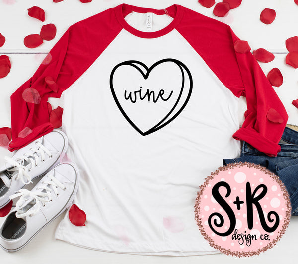Conversation Heart Wine SVG DXF PNG (2019)