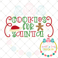 Cookies for Santa SVG DXF PNG