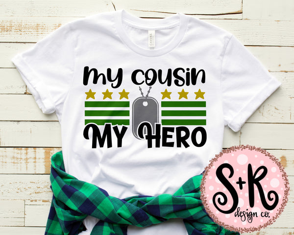 My Cousin My Hero SVG DXF PNG (2019)