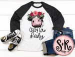 Crazy Cow Lady Printable/Printable PNG Design (2019)
