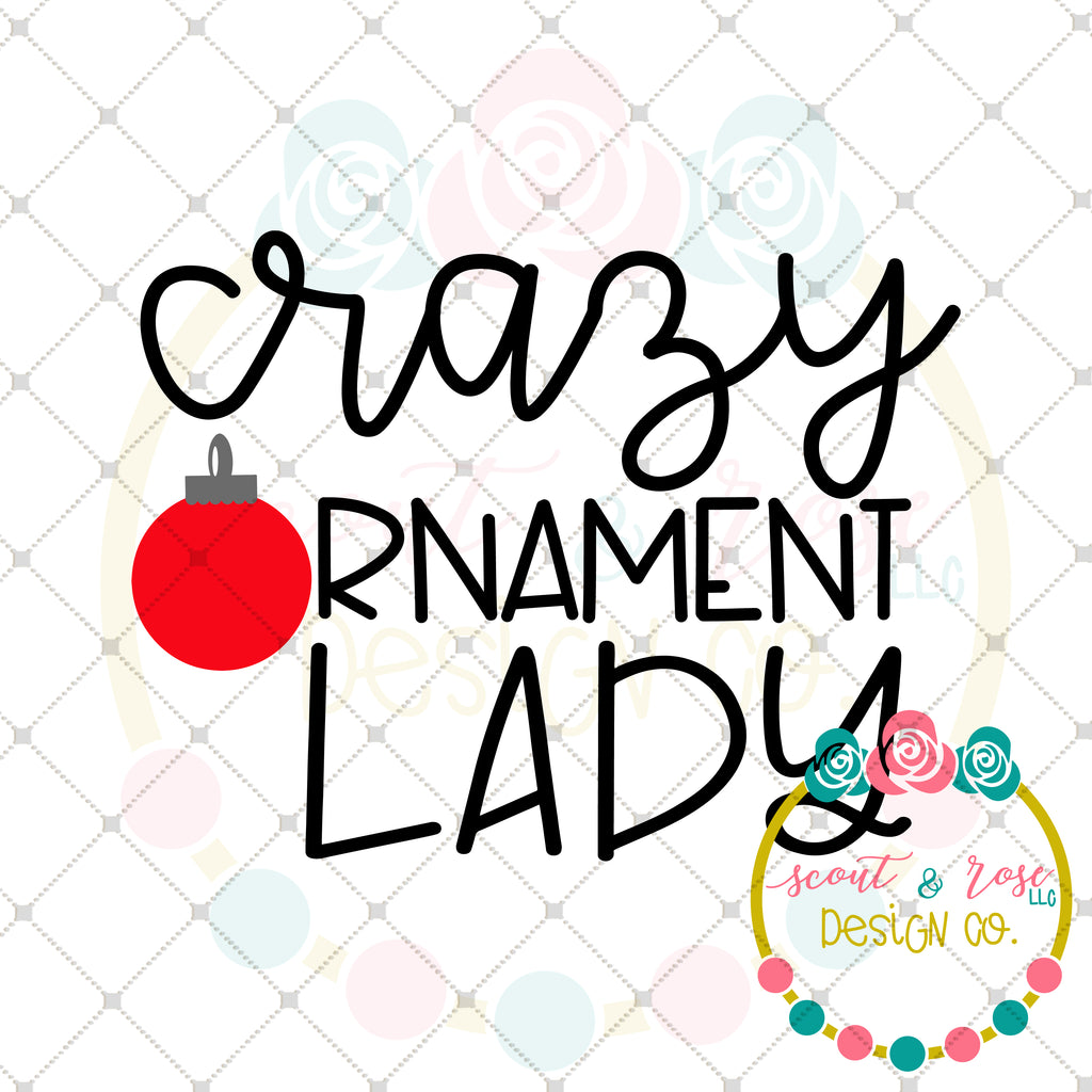 Crazy Ornament Lady SVG DXF PNG