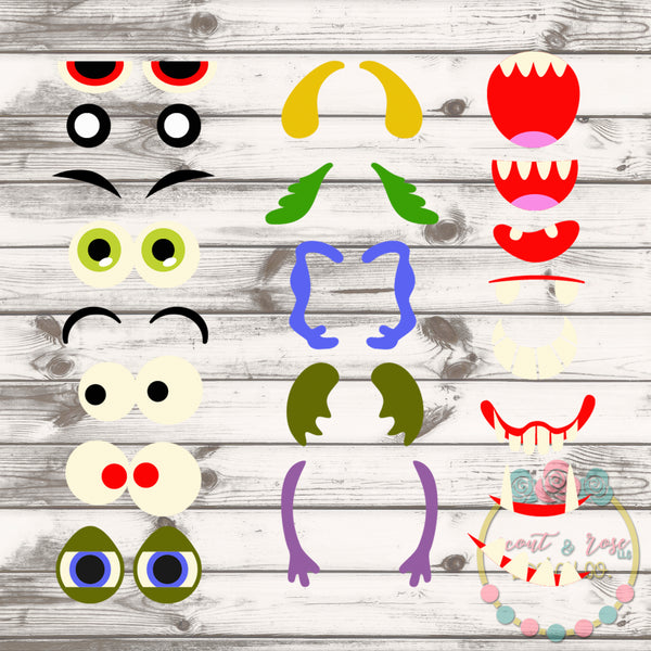 Design Your Own Monster Set SVG DXF PNG