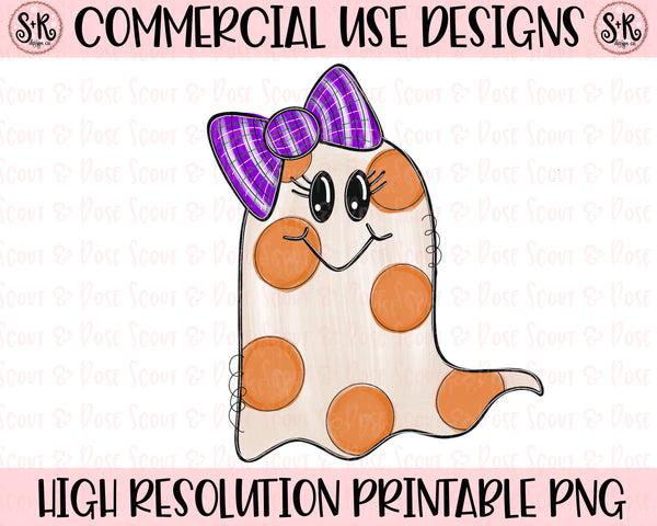 Cute Ghost Printable Design (2020)