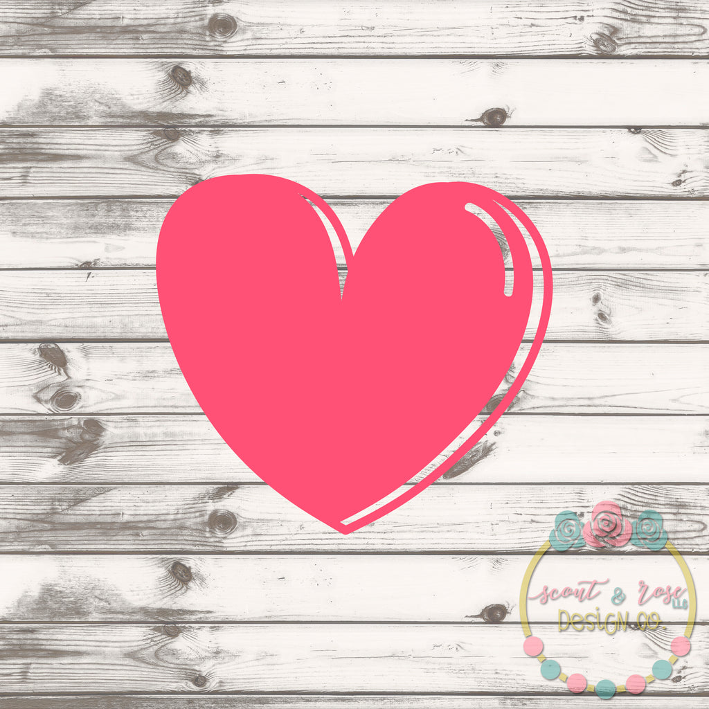 Cute Heart SVG DXF PNG