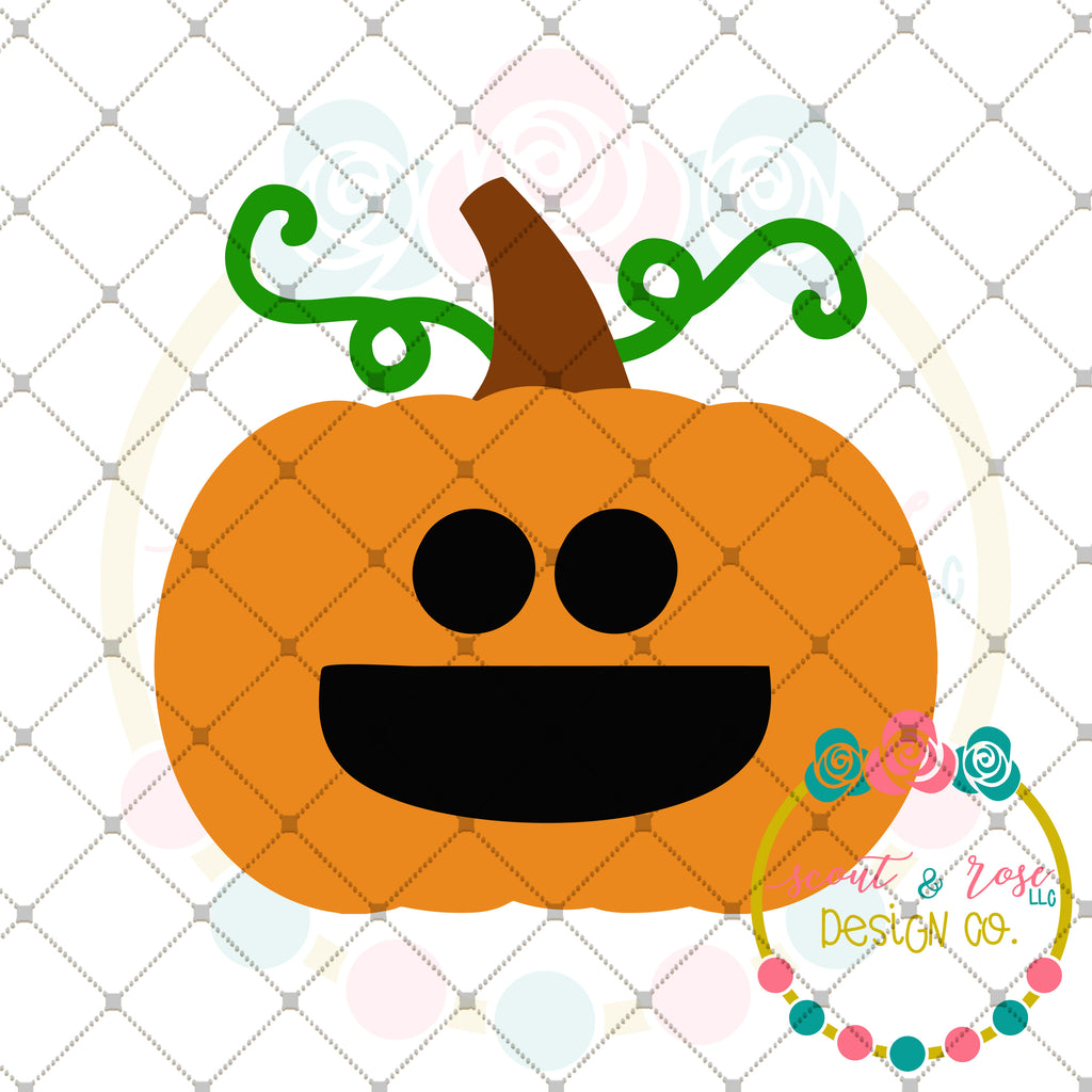 Pumpkin Face SVG DXF PNG