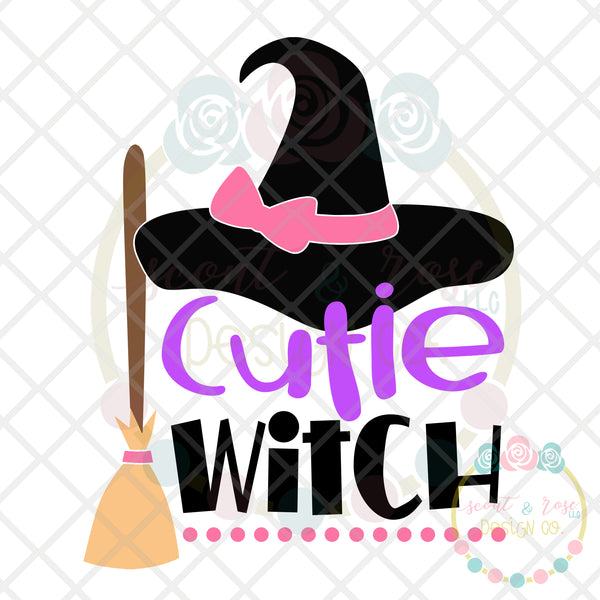 Cutie Witch SVG DXF PNG