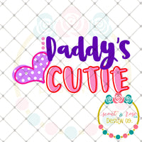 Daddys Cutie SVG DXF PNG