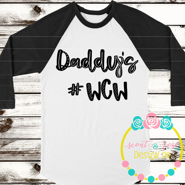 Daddy's WCW SVG DXF PNG
