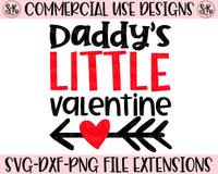 Daddy's Little Valentine SVG DXF PNG (2019)