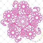 Flamingo Zentangle SVG DXF PNG