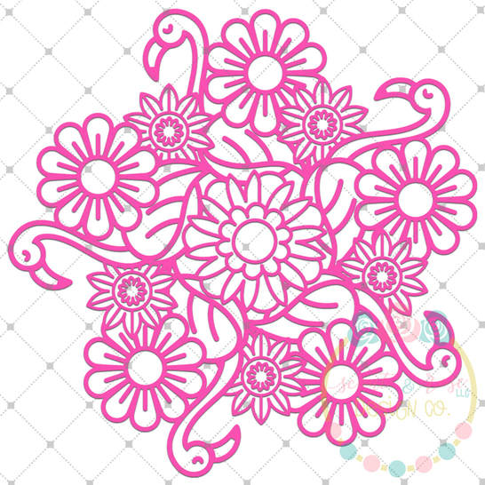 Unicorn Zentangle Monogram Frame Svg Dxf Png Scout And