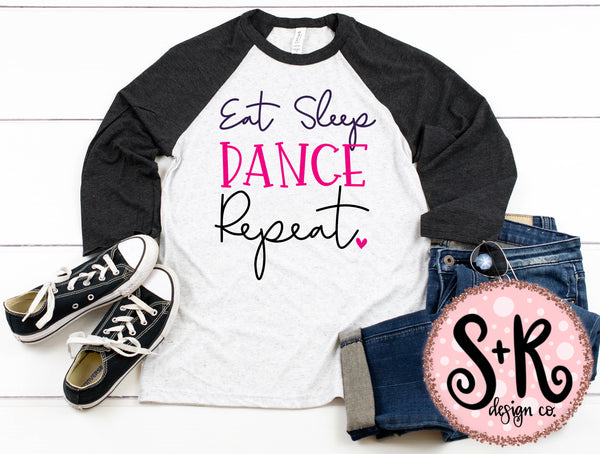 Eat Sleep Dance Repeat SVG DXF PNG (2019)