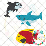 Design Your Own Ocean Scene Set SVG DXF PNG