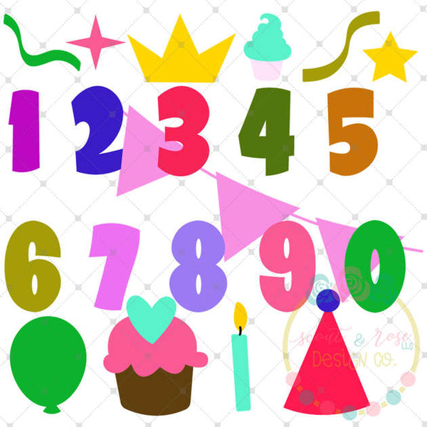Design Your Own Birthday Set SVG DXF PNG