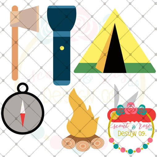 Design Your Own Camping Scene Set SVG DXF PNG
