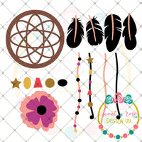 Design Your Own Dreamcatcher SVG DXF PNG