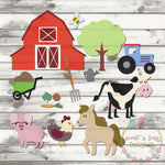 Design Your Own Farm Scene SVG DXF PNG