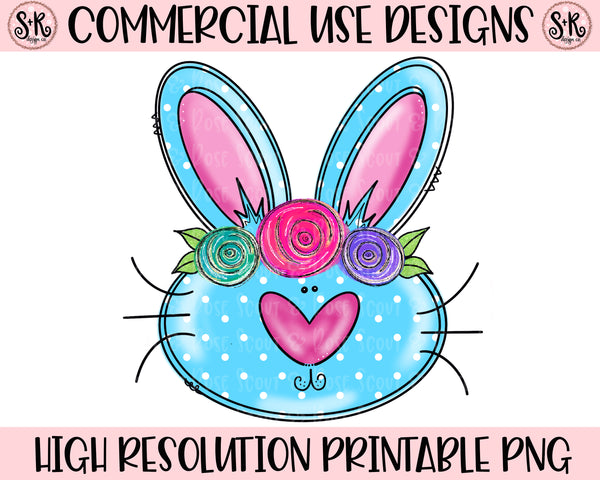 Polka Dot Easter Bunny Printable Design (2019)