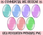 Polka Dot Easter Egg Set Printable Design (2019)