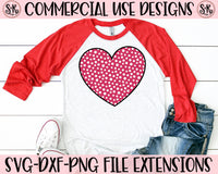 Dotted Heart SVG DXF PNG (2019)