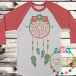 Flower Dream Catcher SVG DXF PNG