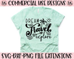 Dream Travel Explore SVG DXF PNG (2020)