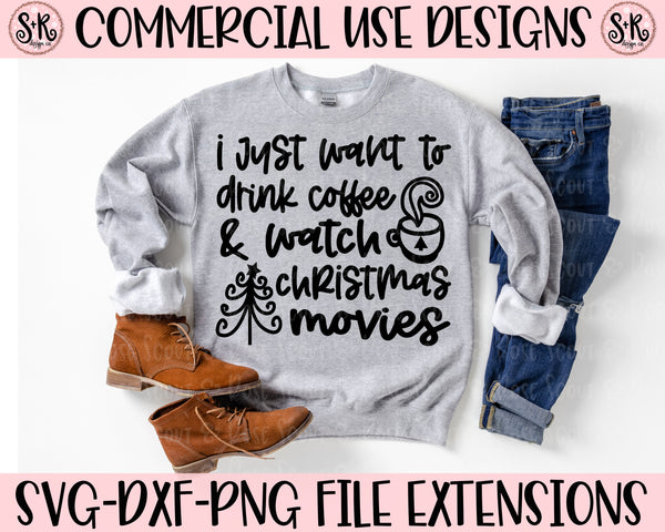 Coffee & Christmas Movies SVG DXF PNG (2020)
