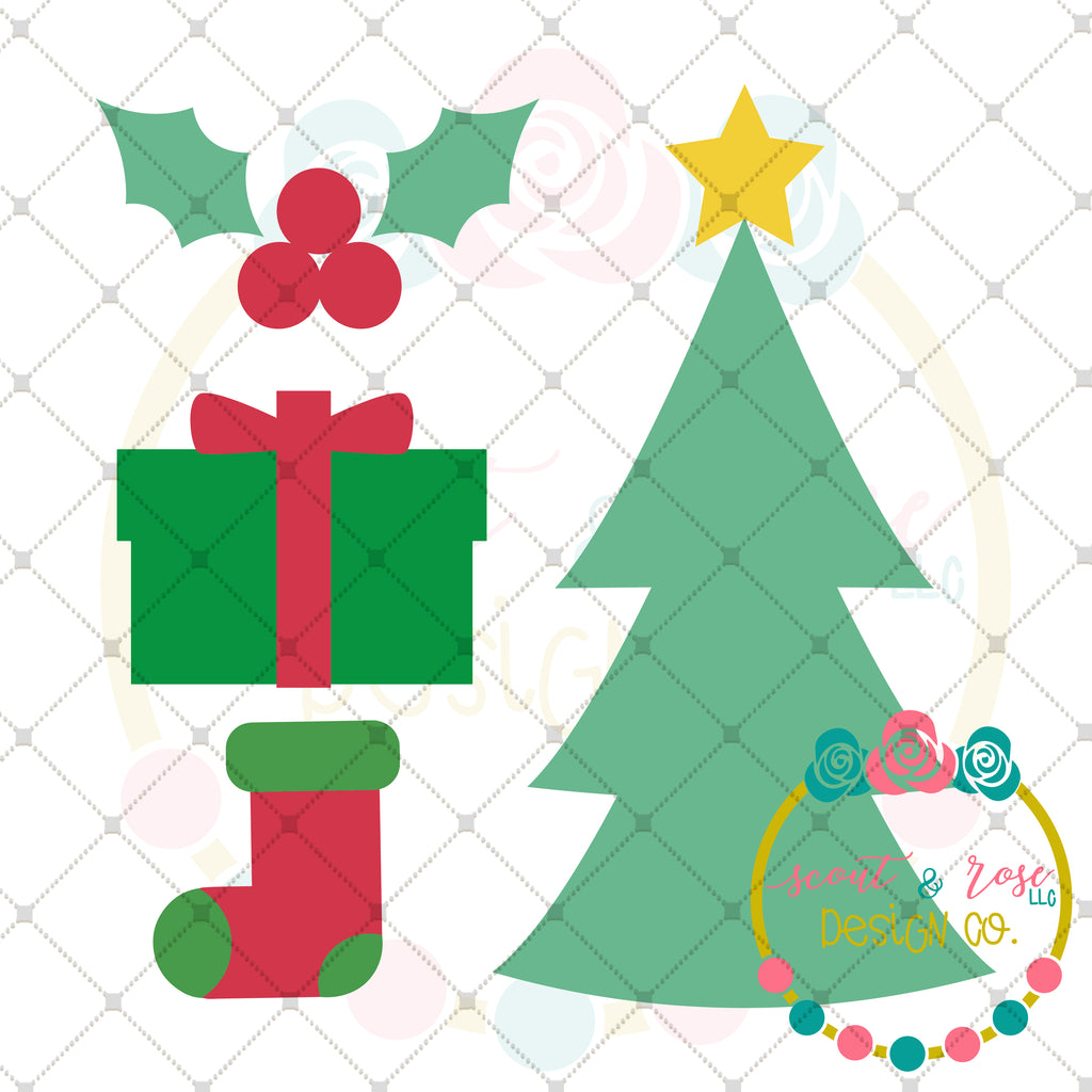 Design Your Own Christmas Set 1 SVG DXF PNG