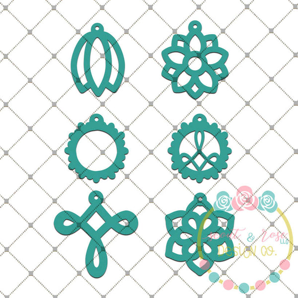 Faux Leather Earring Set 1 SVG DXF PNG