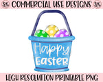Happy Easter Basket Printable Design (2019)