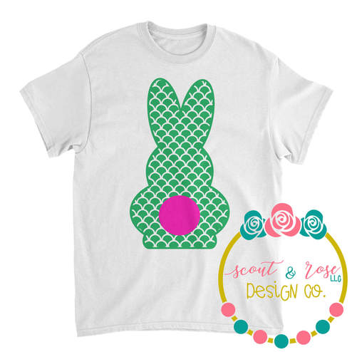 Mermaid Scale Easter Bunny SVG DXF PNG