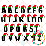Elf Layered Letter Set (SVG Only) SVG DXF PNG