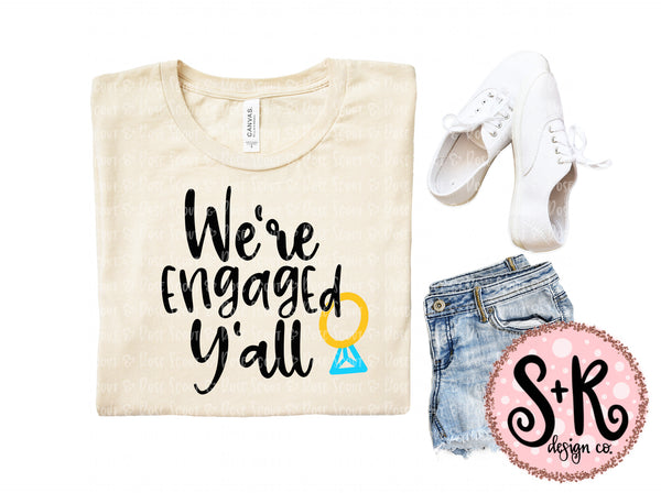 Engaged Y'all SVG DXF PNG (2019)