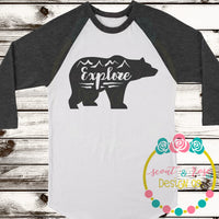 Explore Bear SVG DXF PNG