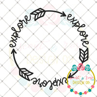 Explore Circle Frame SVG DXF PNG