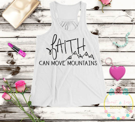 Faith Can Move Mountains SVG DXF PNG