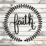 Faith Wreath SVG DXF PNG
