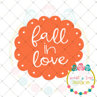 Fall in Love SVG DXF PNG