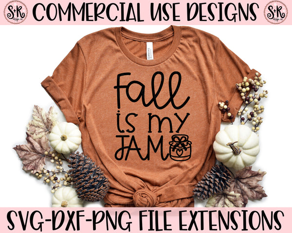 Fall Is My Jam SVG DXF PNG (2019)