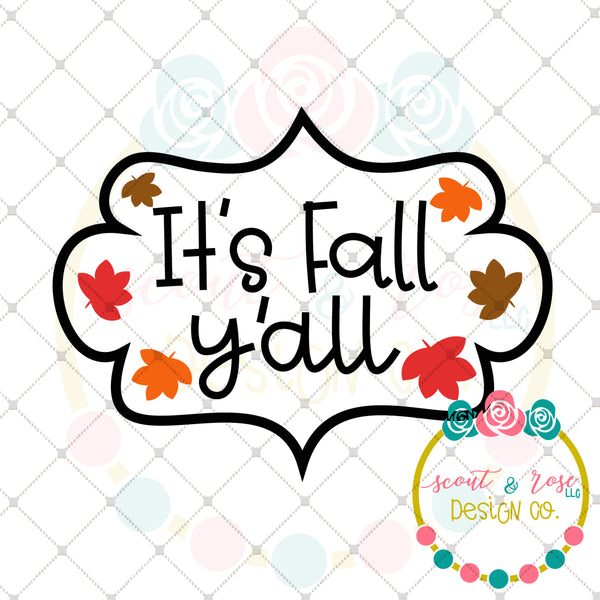 Fall Y'all SVG DXF PNG