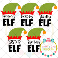 Christmas Elf Family Set SVG DXF PNG