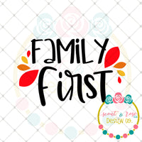 Family First SVG DXF PNG